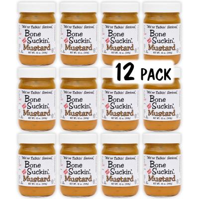 Bone Suckin' Mustard SWEET SPICY, 12 oz., 12 Pack