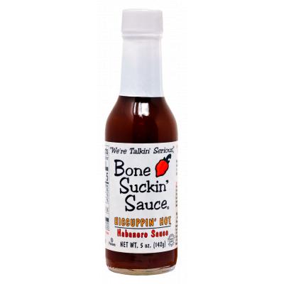 Bone Suckin'® Sauce, HICCUPPIN' Hot , 5 oz., Front