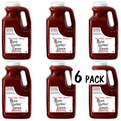Bone Suckin'® Sauce, Thicker Style, 78 oz., 6 Pack