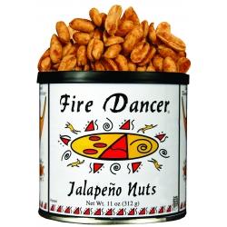 Fire Dancer® Jalapeño Nuts & HONEY Jalapeño Peanut Tins, 12 Pack